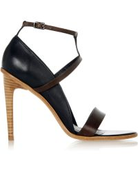 Tibi Anouk Leather Sandals - Lyst