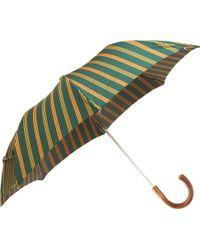 Barneys New York Multi-Stripe Compact Umbrella - Lyst