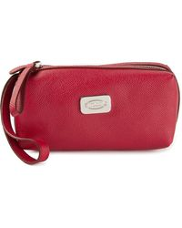 Tod's Classic Make-up Bag - Red