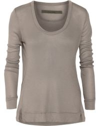 Enza Costa Ribbed Modal and Cashmere-blend Jersey Top - Lyst