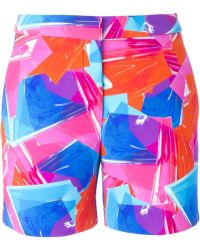 ROKSANDA - Collage Print Shorts - Lyst