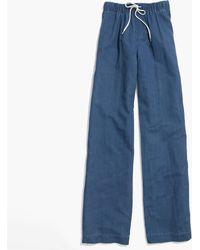 Madewell Indigo Drawstring Pants blue - Lyst