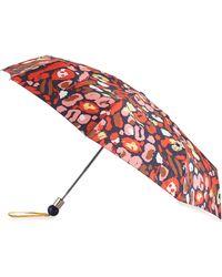 Marc By Marc Jacobs Graffiti Leopard-print Umbrella - Red