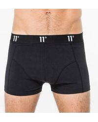 11 Degrees Twin Pack Core Boxer Shorts - Black