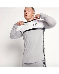 11 Degrees Triple Panel Long Sleeve T-shirt - White