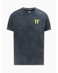11 Degrees Acid Wash T-shirt - Black