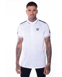 11 Degrees Eagle Polo Shirt Size: Xs - White