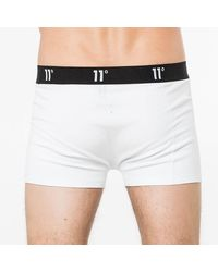 11 Degrees Twin Pack Core Boxer Shorts - White