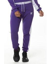 11 Degrees Colour Block Joggers - Purple