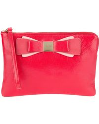 Marc Jacobs Bow Detail Clutch - Lyst