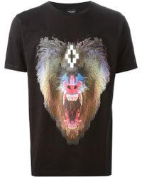 Marcelo Burlon Black Printed T-Shirt - Lyst