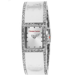 Christian Lacroix - Women'S Silver-Tone Steel And White Ceramic Bracelet Silver-Tone Dial - Lyst