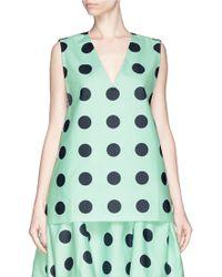 Chictopia - Wide Sleeve Poplin Shirt Dress - Lyst