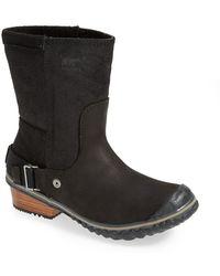 Sorel 'Slimshortie' Waterproof Boot black - Lyst