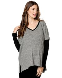 Drew - Maternity Drop-shoulder Textured Sweater - Lyst