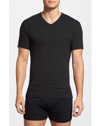 Calvin Klein Stretch Cotton V-Neck T-Shirt, (2-Pack) - Lyst