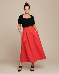 Mara Hoffman Tulay Skirt - Red