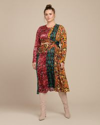 Prabal Gurung Taxila Long Sleeve Cut-out Dress - Multicolor