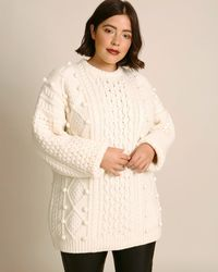 Christopher Kane Aran Knit Sweater - White