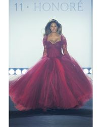 Zac Posen Tulle Off-the-shoulder Gown - Red
