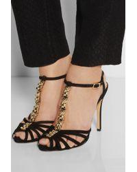 Charlotte Olympia Gummi Bear Suede Sandals - Black