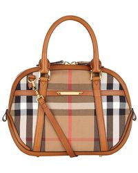 Burberry Small Orchard House Check Bowling Bag - Lyst