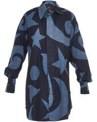 Vivienne Westwood Anglomania Lottie Printed Denim Shirtdress - Lyst