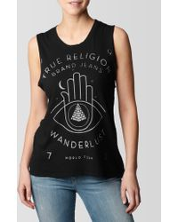 True Religion Crescent Heights Womens Muscle Tank - Lyst