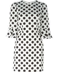 Dolce & Gabbana Polka Dot Dress white - Lyst