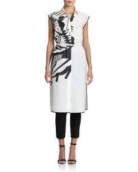 Piazza Sempione Printed Sleeveless Cotton Shirtdress - Lyst