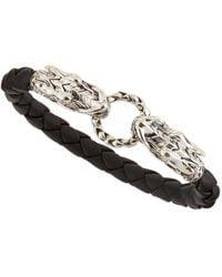 John Hardy Black Leather Dragon Bracelet - Lyst