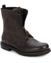 Emporio Armani Leather & Suede Boots - Lyst