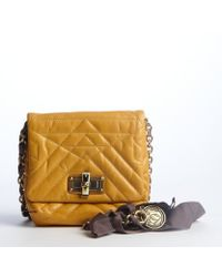 Lanvin Mustard Quilted Leather 'Happy Mini Pop' Bag - Lyst