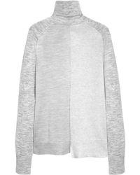 Mulberry | Panelled Knitted Roll Neck | Lyst