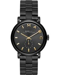 Marc By Marc Jacobs Women'S Baker Black Ion-Plated Stainless Steel Bracelet Watch 36Mm Mbm3358 - Lyst