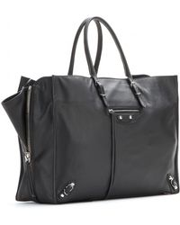 Balenciaga Papier A4 Zip-Around Leather Shoulder Bag black - Lyst