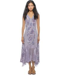 Rebecca Taylor Paisely Ruffle Maxi Dress - Admiral Combo - Lyst