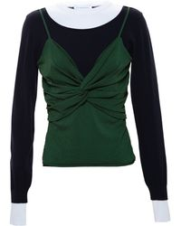 J.W. Anderson Jumper With Overlay - Lyst