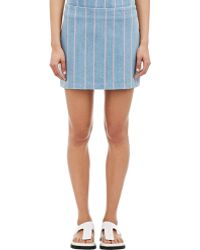 T By Alexander Wang Striped Denim Mini Skirt - Lyst