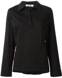 Jil Sander Shirt Collar Blouse - Lyst