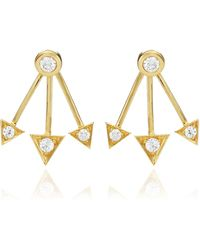 Janis Savitt - Triple Triangle Stud Earring - Lyst