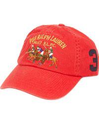 Ralph Lauren Classic Sport Cap Red - Lyst
