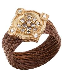 Charriol Women'S Celtique Rose 18K Gold And Bronze-Tone Diamond .35Tcw Ring gold - Lyst
