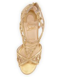 christian louboutin gold belly nodo heel - Bavilon Salon