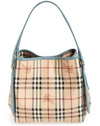 Burberry Women'S 'Haymarket Check - Small Canterbury' Tote - Grey - Lyst