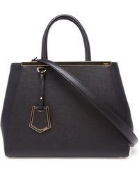 Fendi 2jours Leather Grained Shopper Bag - Lyst