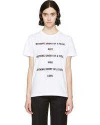 Yang Li White Nothing Short T_Shirt - Lyst