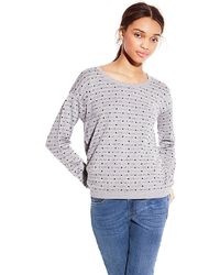 Vince Camuto Long Sleeve Dot Sweater - Lyst