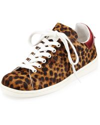 Isabel Marant Bart Leopard-print Calf Hair Low-top Sneaker - Lyst