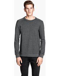 H&M Marled Sweatshirt - Lyst